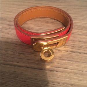 Hermes Jewelry - 100%authentic Hermès double Kelly tour bracelet.